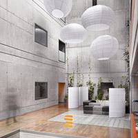 atrium budovy Českého rozhlasu